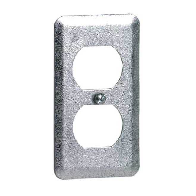 Galvanized Steel Double Outlet Box Cover