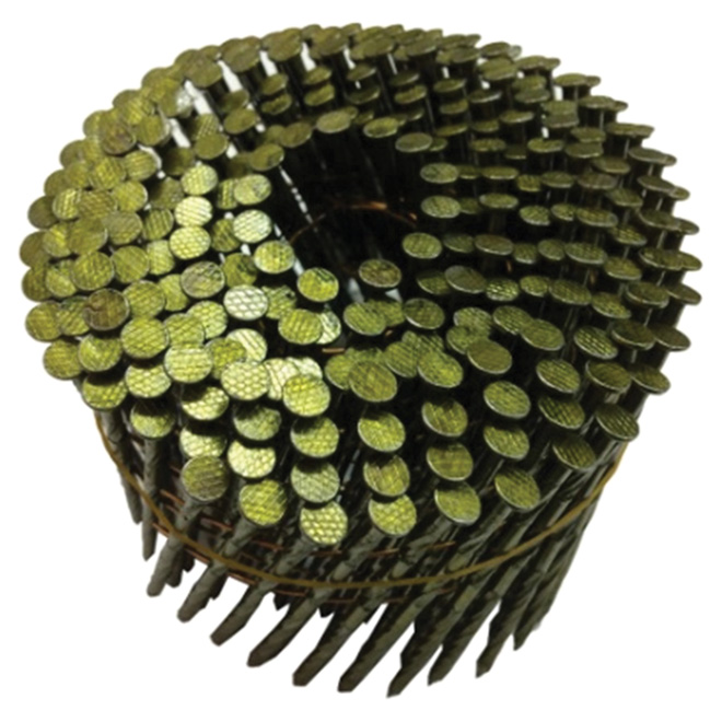 "Framing Nails - 15° Coil - Spiral - 3 1/4"" - 4500/Box"