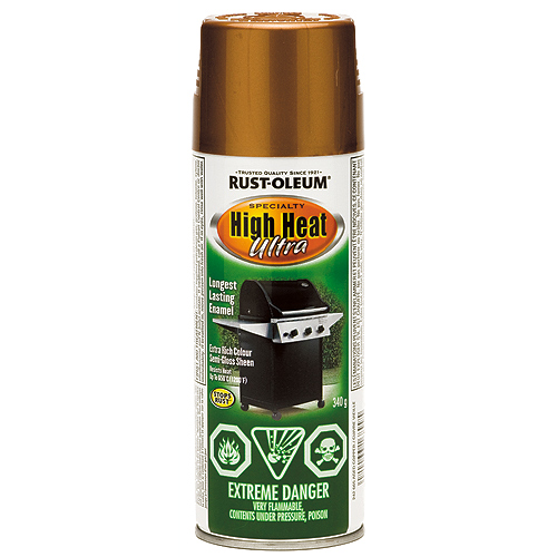 High Heat Spray Paint 340g Aged Copper Rona
