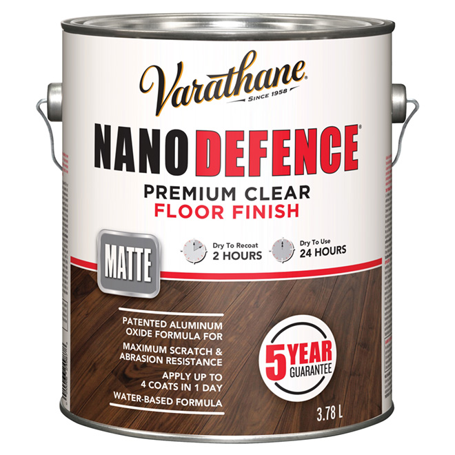 3.78 L Water Base Floor Varnish Flat Finish