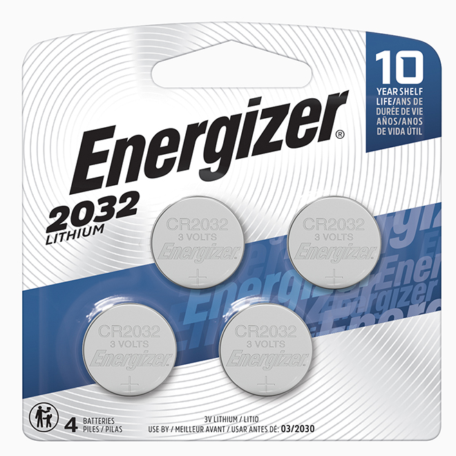 """2032"" Lithium Coin Batteries - 4 Pack"