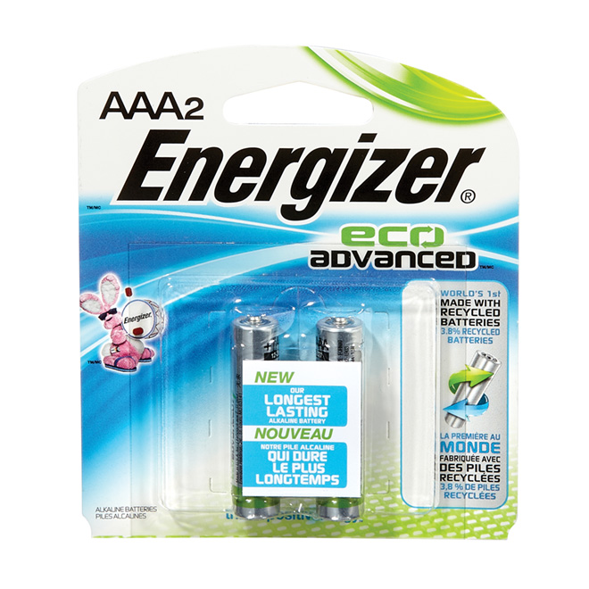"Battery - Pack of 2 ""Eco Advanced"" Alkaline AAA Batteries"