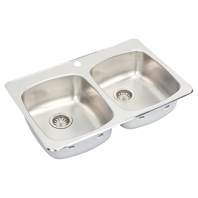 Double Sink -Stainless Steel - Top Mount - 31""