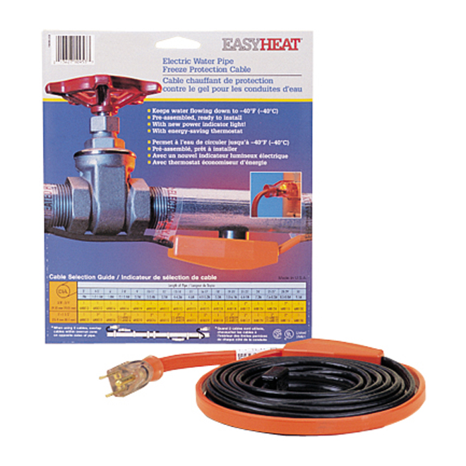 C ble chauffant de protection contre le gel rona for Cable de telephone exterieur