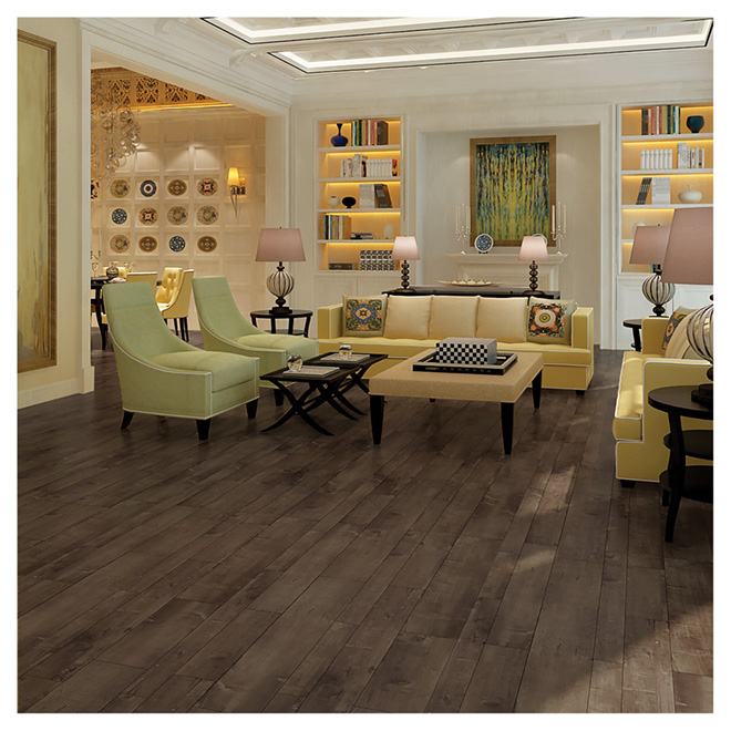 Laminate Flooring 12mm - Matte Finish HDF - Smoke