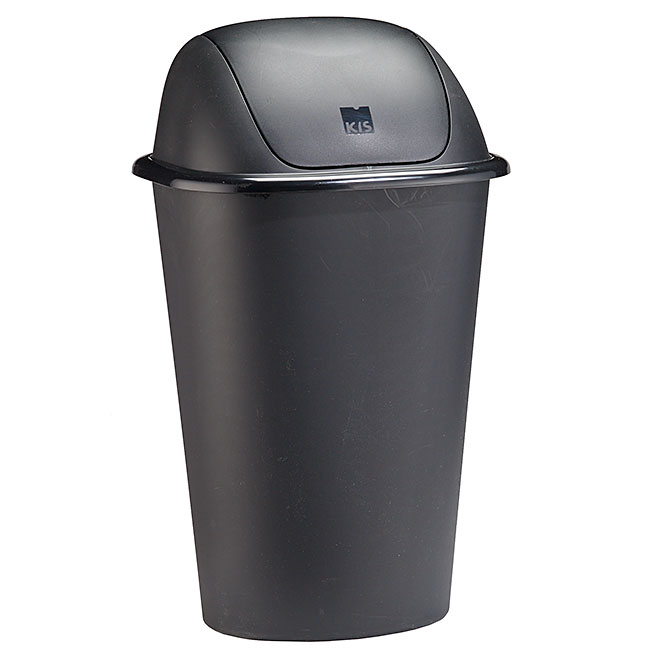 Swing-Lid Garbage Can
