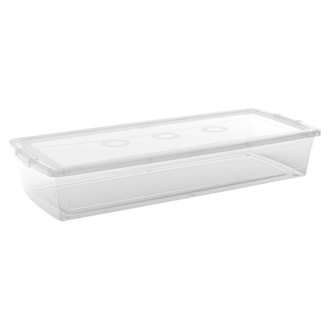 Underbed Storage Box with Cover- 50L - Clear