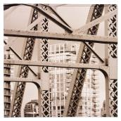 Wood and Cotton Sepia Laminated Canvas - Bridge