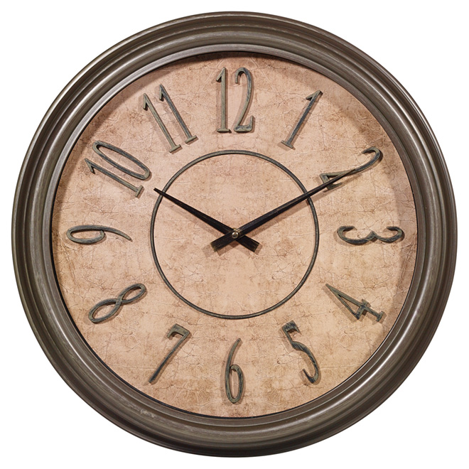"Wall Clock - ""Antique"" - 18"""