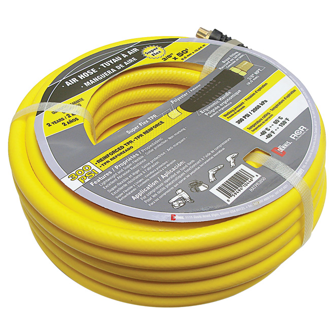 "Air Compressor Reinforced Hose - 3/8"" x 50'"