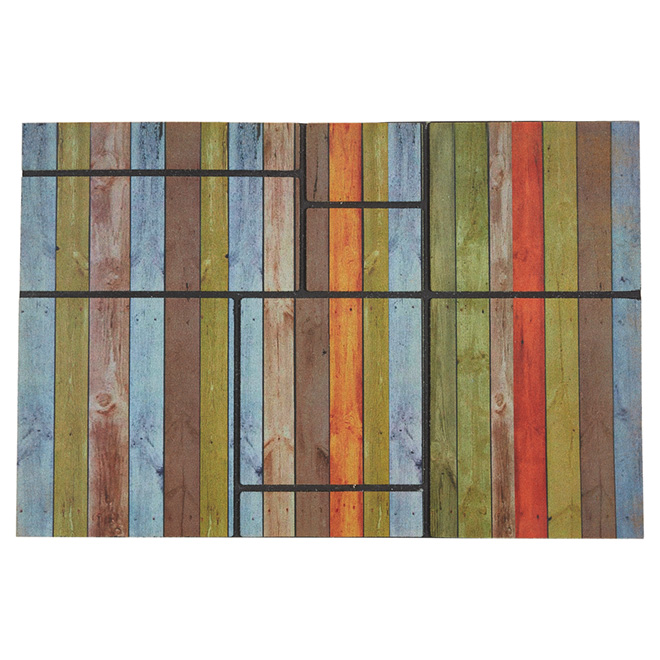 Outdoor Recycled Rubber Mat - Multicoloured