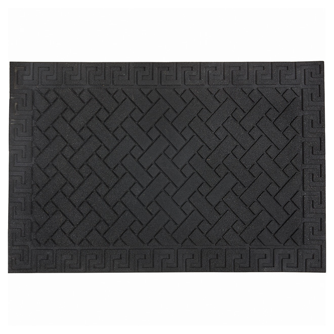 Outdoor Recycled Rubber Mat - Black