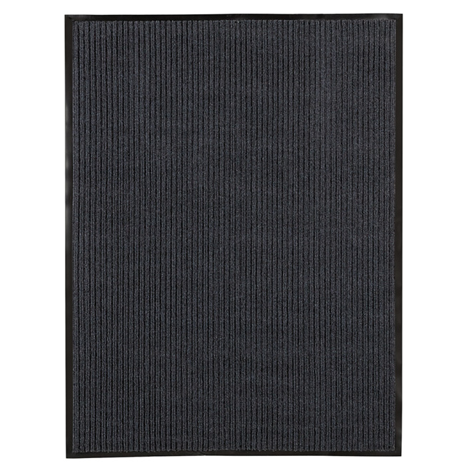 High Grooves Polypropylene Mat - Dark Grey