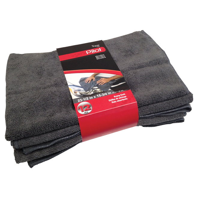 Drying Cloths - Dark grey - Pack of 12