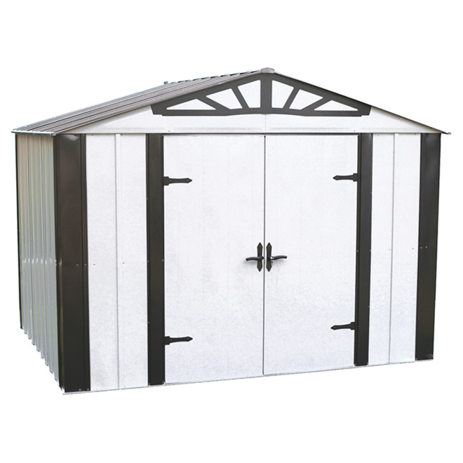 Garden Shed made of Galvanized Steel - 10' x 8'