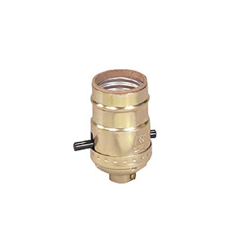 Brass Push Through Light Socket