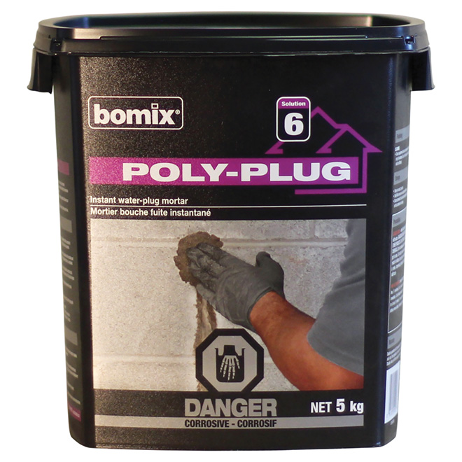 "Cement - ""Poly-Plug"" Instant Water-Plug Cement"