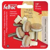 Felt-Base Threaded Stem Glides - Adjustable - 7/8