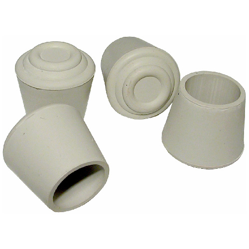 "Rubber Leg Tips - Round - White - 1 1/4"" - 4/Pk"