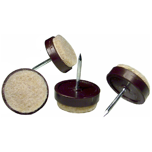 "Heavy-Duty Nail-On Felt Pads - Round - 3/4"" - 8/Pk"