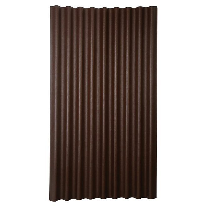 "Corrugated Roofing Panel - 36"" x 79"" - Brown"
