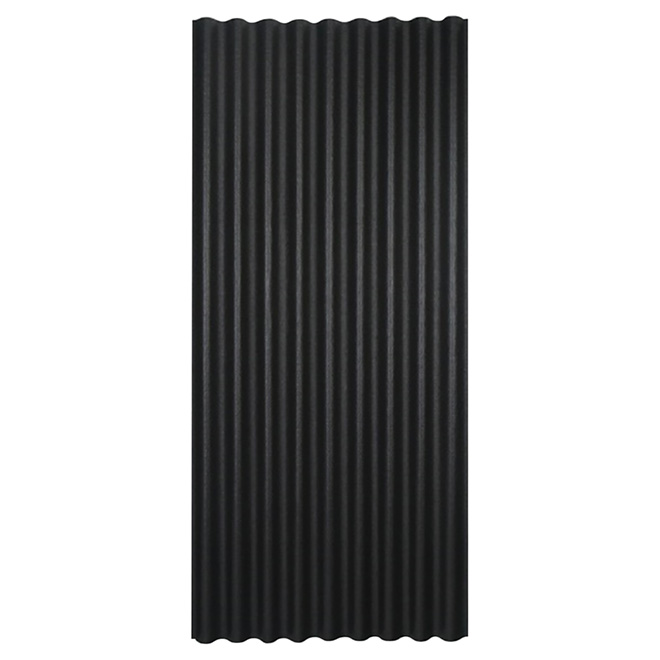 "Corrugated Roofing Panel - 36"" x 79"" - Black"