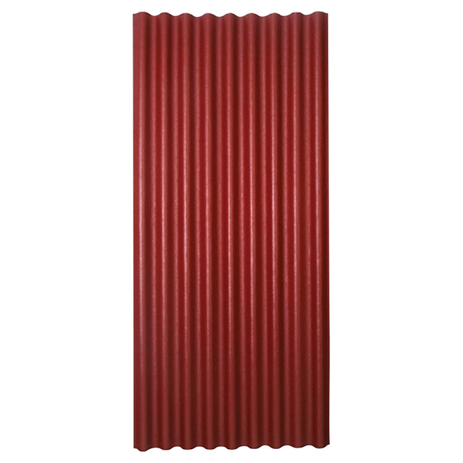 "Corrugated Roofing Panel - 36"" x 79"" - Red"