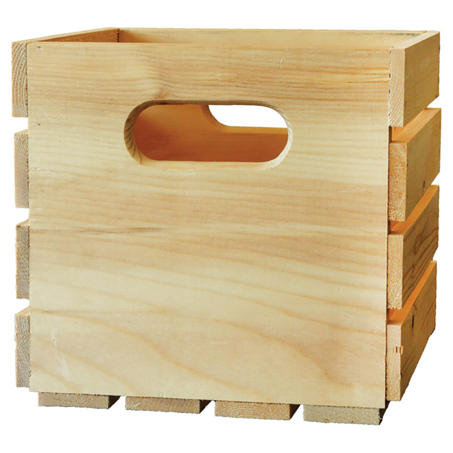 natural pine wooden box 9 x 9 5 x 9 5 rona. Black Bedroom Furniture Sets. Home Design Ideas