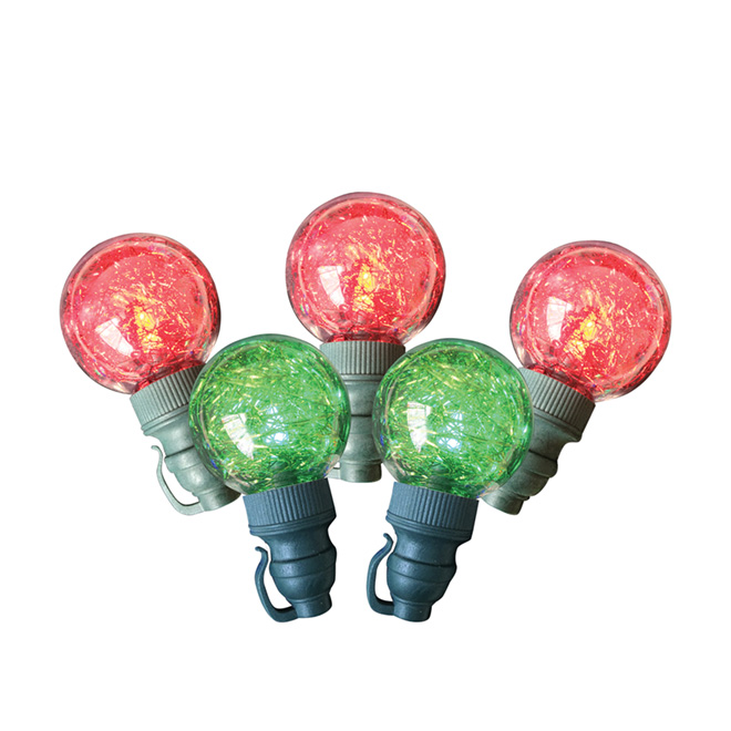 25-Blub LED Outdoor String Light -Red and Green