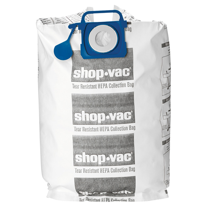 HEPA Vacuum Filter Bags - 45 to 75 L - Pack of 2