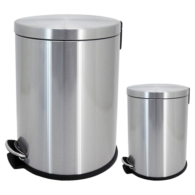 Set of 2 Garbage Can - 5 L and 20 L