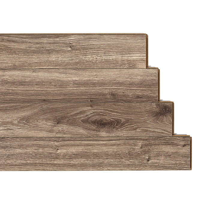 Laminate flooring 14mm bleach oak rona for Plancher chauffant rona