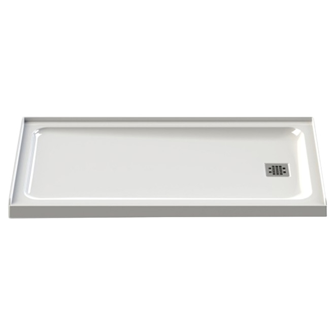 "Olympia Shower Base - White - 60"" x 32"" - Right"