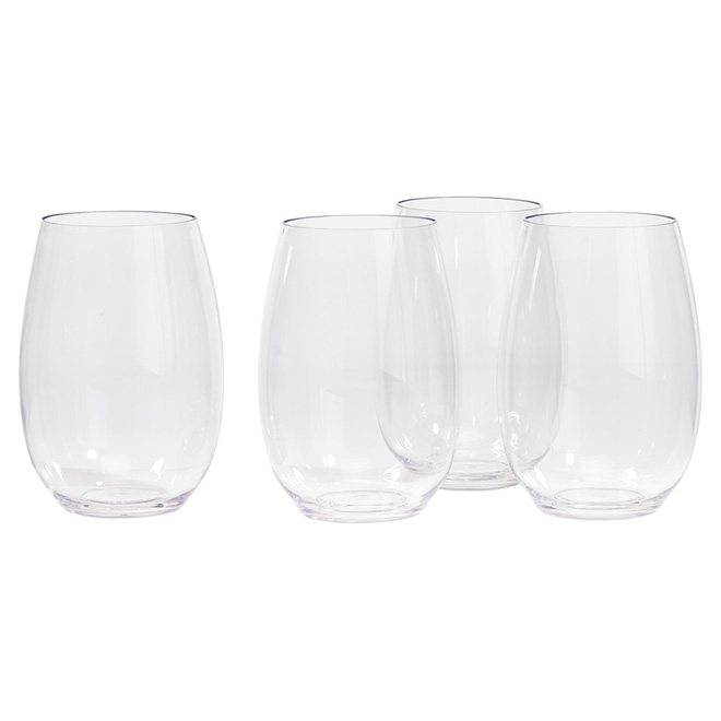 Shatter-Resistant Water Glasses, 4 Pieces