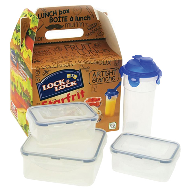 Kit of 8 Polypropylene Food Containers