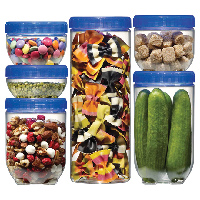 Set of 6 Food Containers - Various Sizes