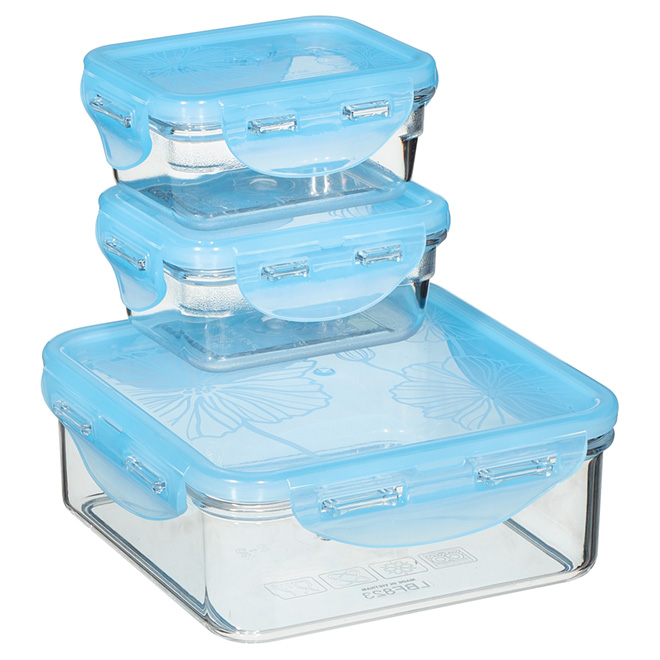 Set of 3 Food Containers - Tritan Plastic - 180ml/870ml