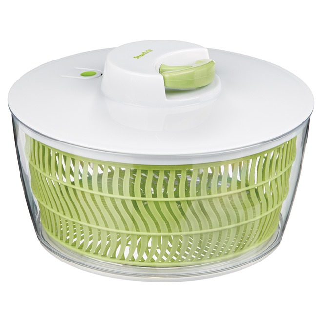Salad Spinner with Cord - 4 L - Green/White