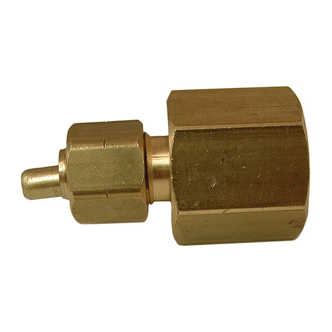 "Union - Brass - 3/8"" x 1/2"" - Tube x FIP"