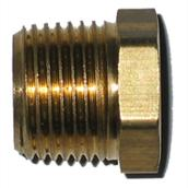 Hex Bushing - Brass - 1/4