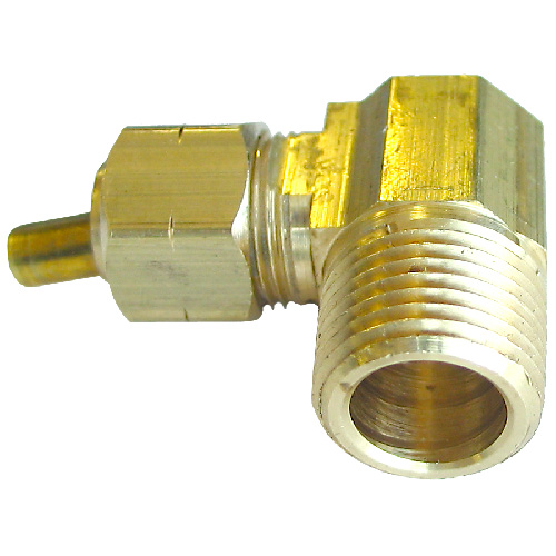 "Elbow - Brass - 90° - 1/4"" x 1/8"" - Tube x MIP"