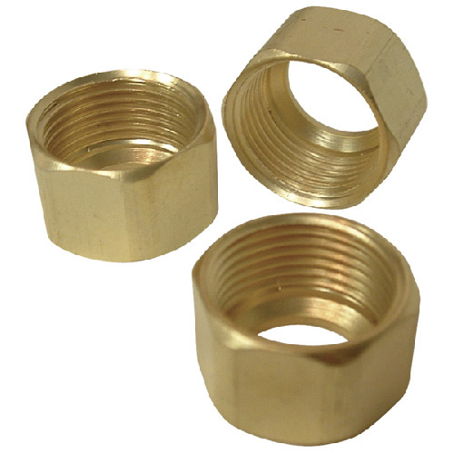 "Compression Nuts - Brass - 1/2"" - 3 Pack"