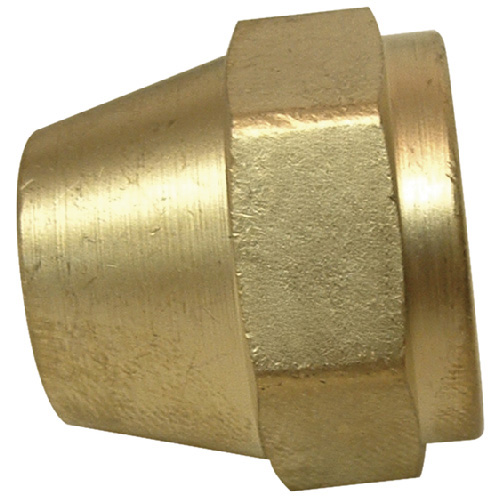 Short Rod Flare Nut - Brass - 45° - 5/8""