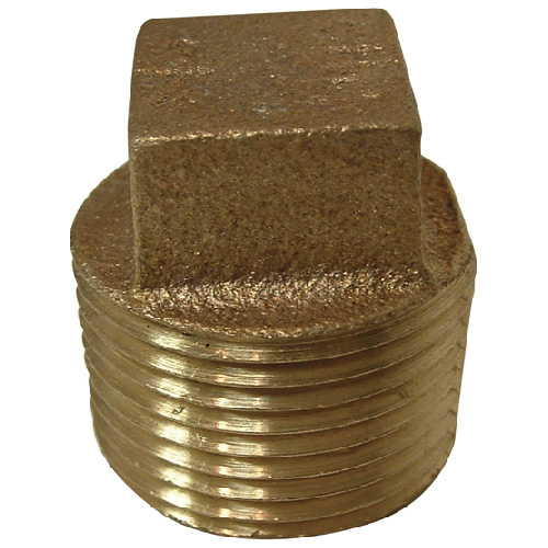 "Plug - Brass - Square Head - 3/4"" - MIP"