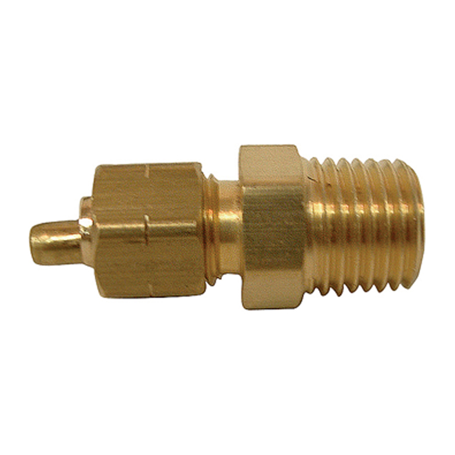 "Coupling - Brass - 3/8"" x 1/2"" - Tube x MIP"