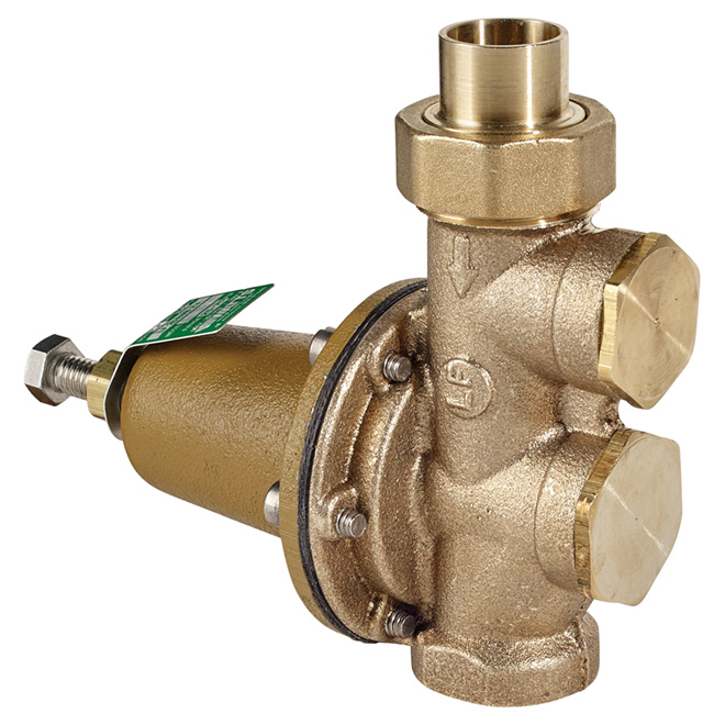 "3/4"" x 3/4"" Lead Free Brass Water Pressure Reducing Valve"