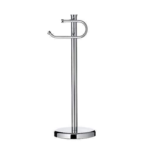 Pedestal toilet paper holder