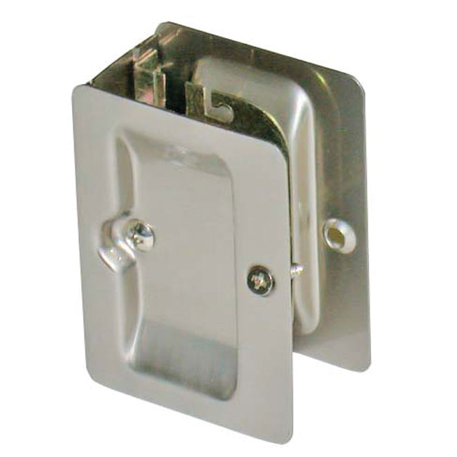 Privacy Sliding Door Lock - Polished Chrome