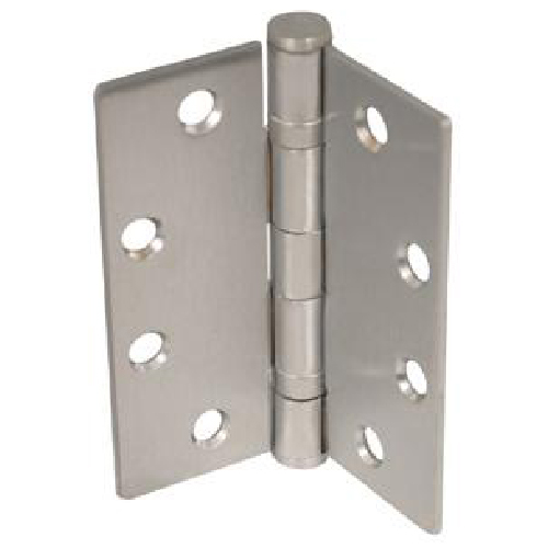 "Set of 3 Satin Nickel Finish Ball Bearing Hinges 4 1/2"" x 4"""