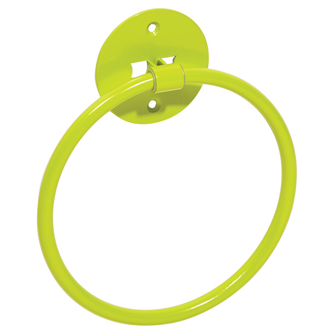 "Towel Holder - ""Chroma"" Towel Ring - Modern Green"